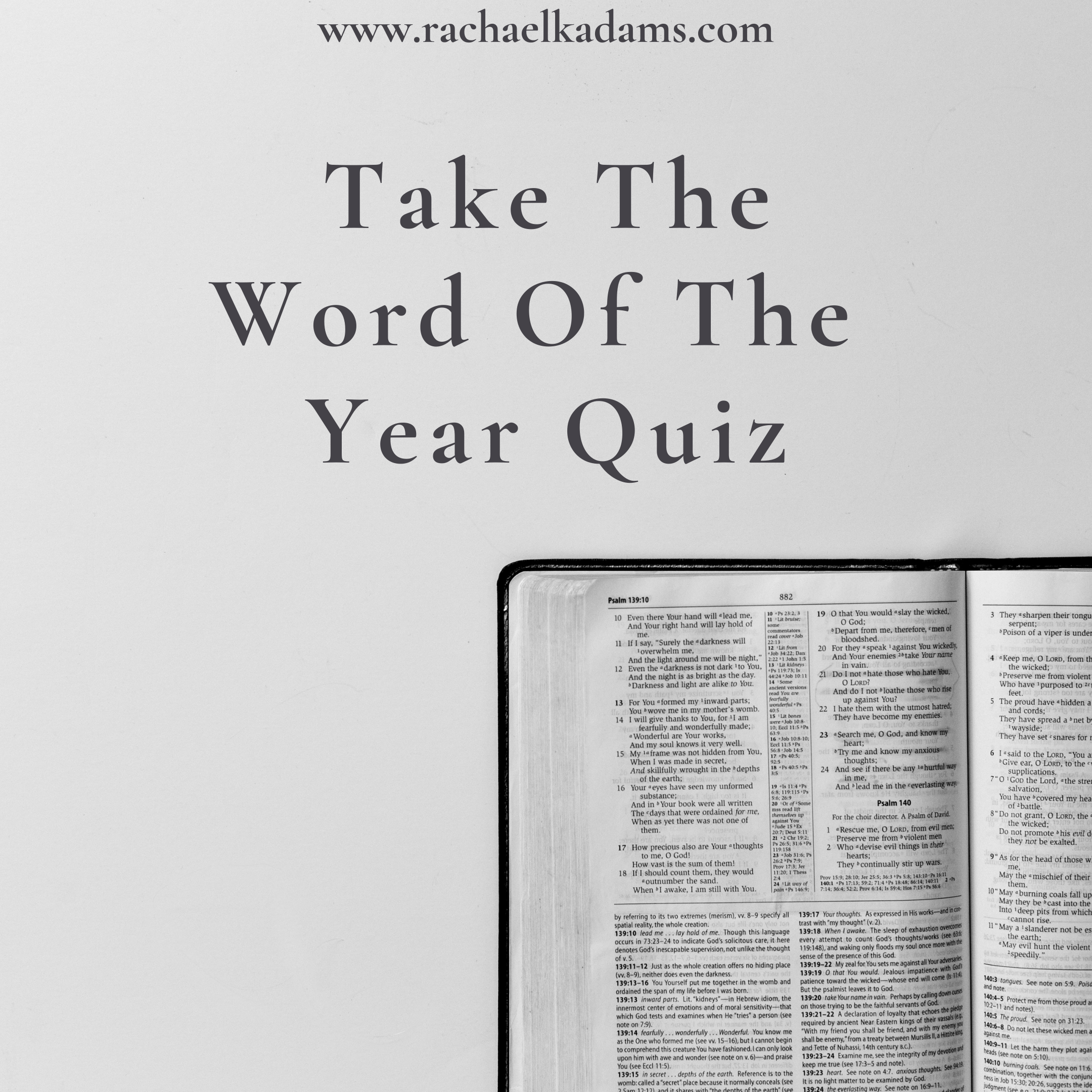 The Word Of The Year Quiz